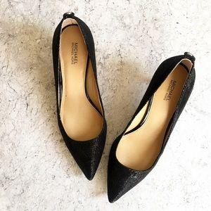 Michael Kors glittered pointy toe heels